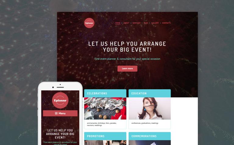 Eplannr WordPress Theme New Screenshots BIG