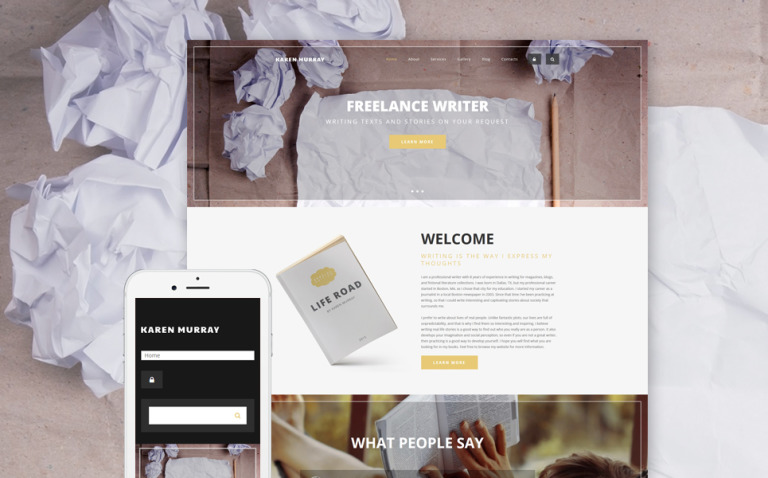 Freelance Writer Drupal Template New Screenshots BIG