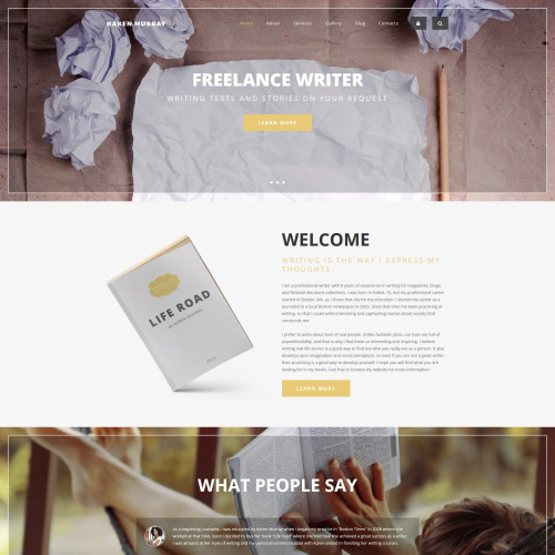 Karen Murray - HTML5 Drupal Template