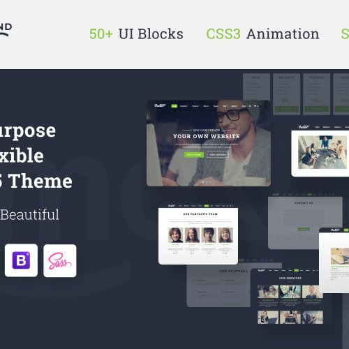 Grand Vector  - Multipurpose Website Template based on Bootstrap