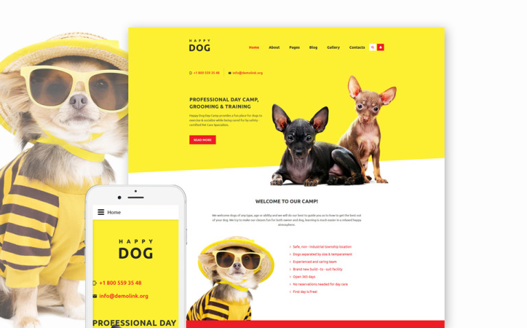 Happy Dog Joomla Template New Screenshots BIG