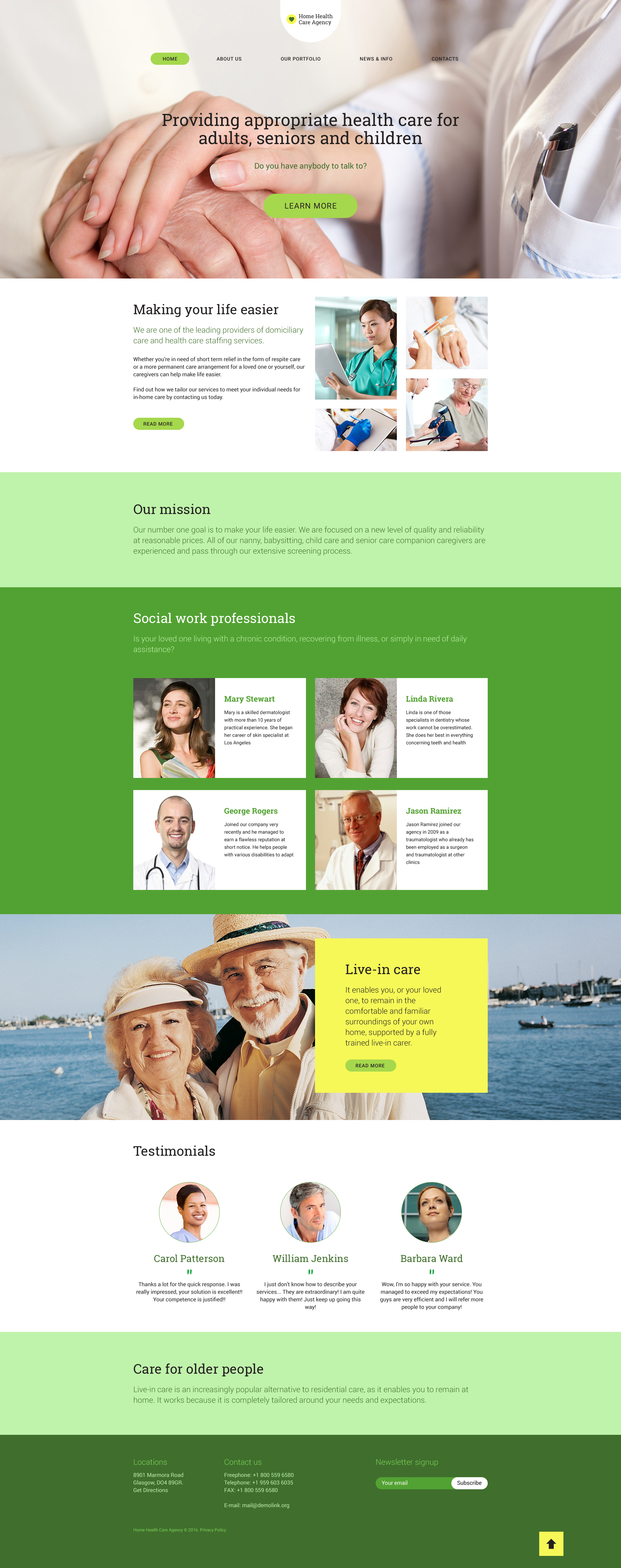 """Home Health Care"" - адаптивний WordPress шаблон №58522"