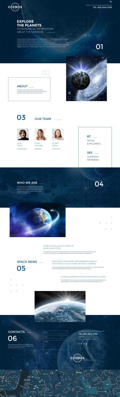 Адаптивный HTML шаблон №58596 на тему астрономия