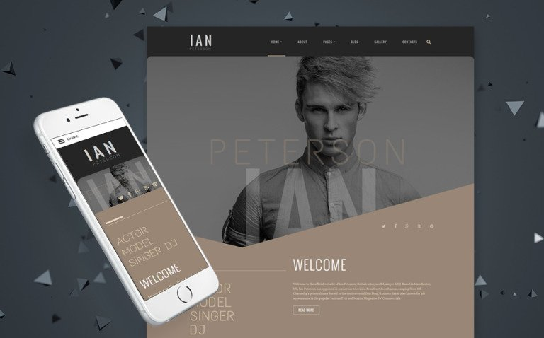 Ian Peterson Joomla Template New Screenshots BIG
