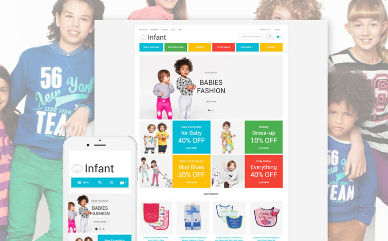 Infant Magento Theme New Screenshots BIG