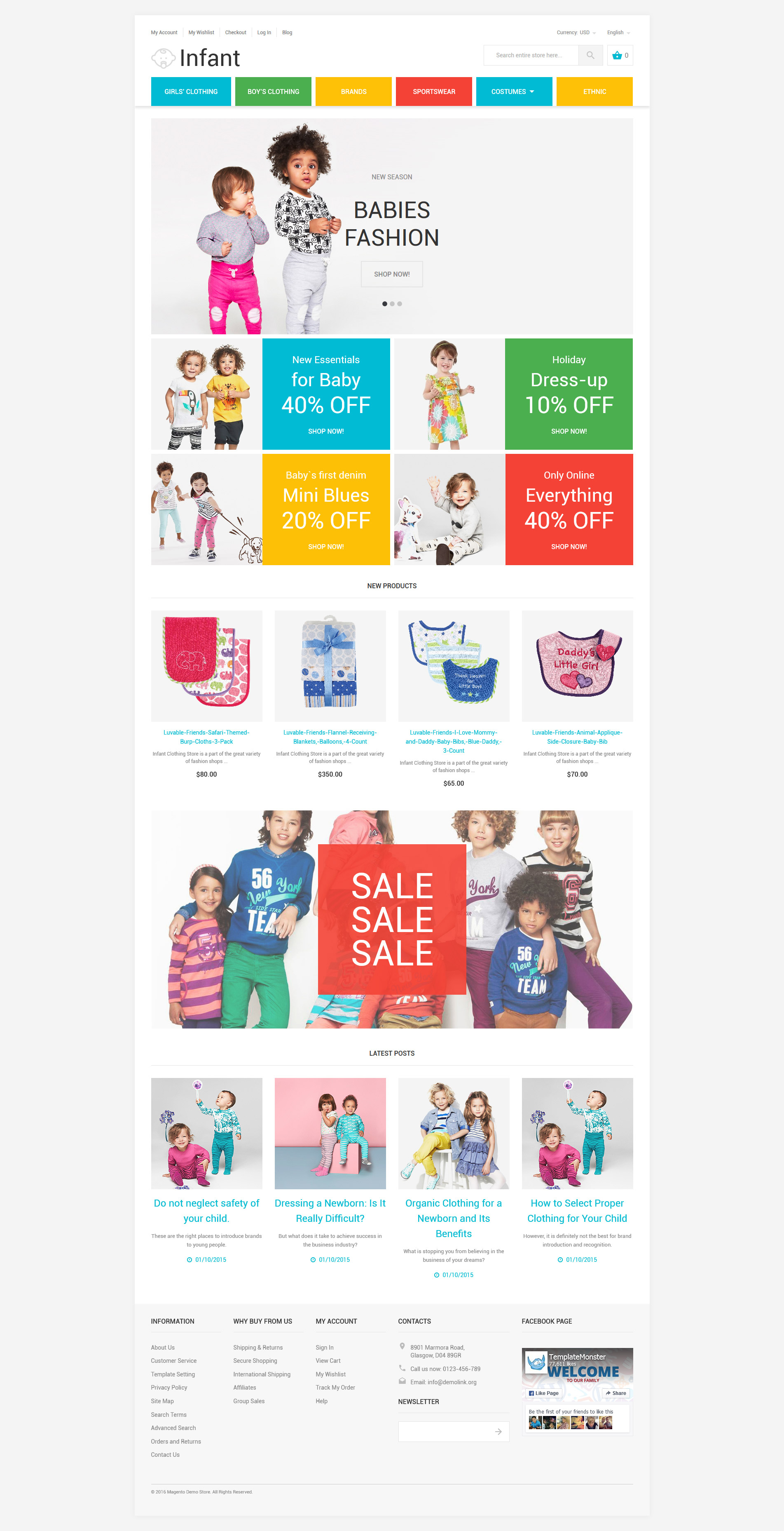 Infant Magento Theme - screenshot