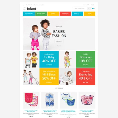 Infant - Magento Template based on Bootstrap