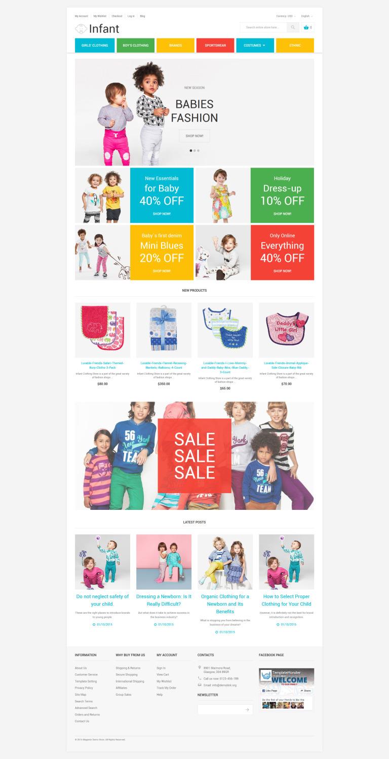 Infant Magento Theme New Screenshots BIG