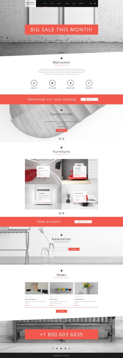 Interior and Furniture Joomla Template