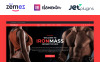 """IronMass - Fitness en Bodybuilding"" Responsive WordPress thema New Screenshots BIG"