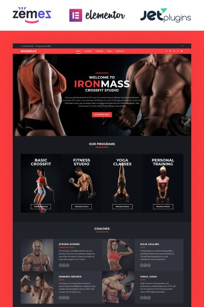 IronMass - Gym Fitness & Bodybuilding WordPress Theme #58536