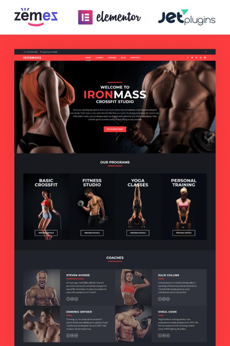 IronMass - Gym Fitness & Bodybuilding WordPress Theme New Screenshots BIG