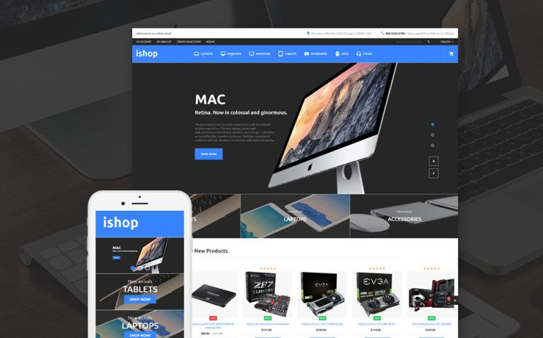 iShop - Electronic Magento 2 Theme New Screenshots BIG