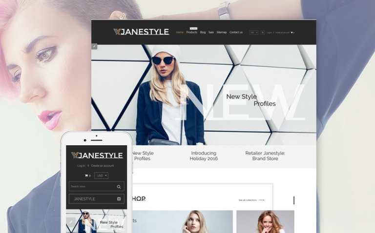 JaneStyle Shopify Theme New Screenshots BIG