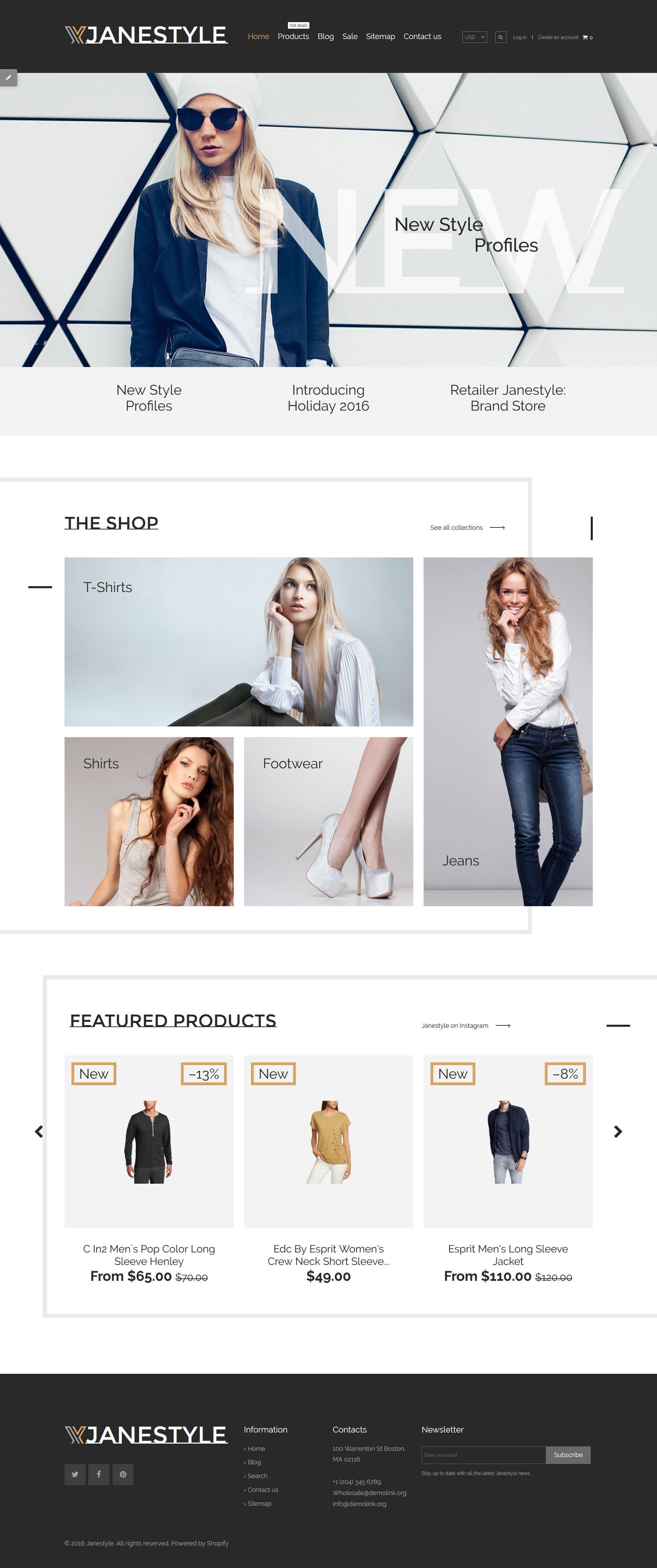 JaneStyle Shopify Theme - screenshot