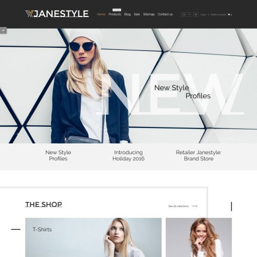 Janestyle - Shopify Template based on Bootstrap