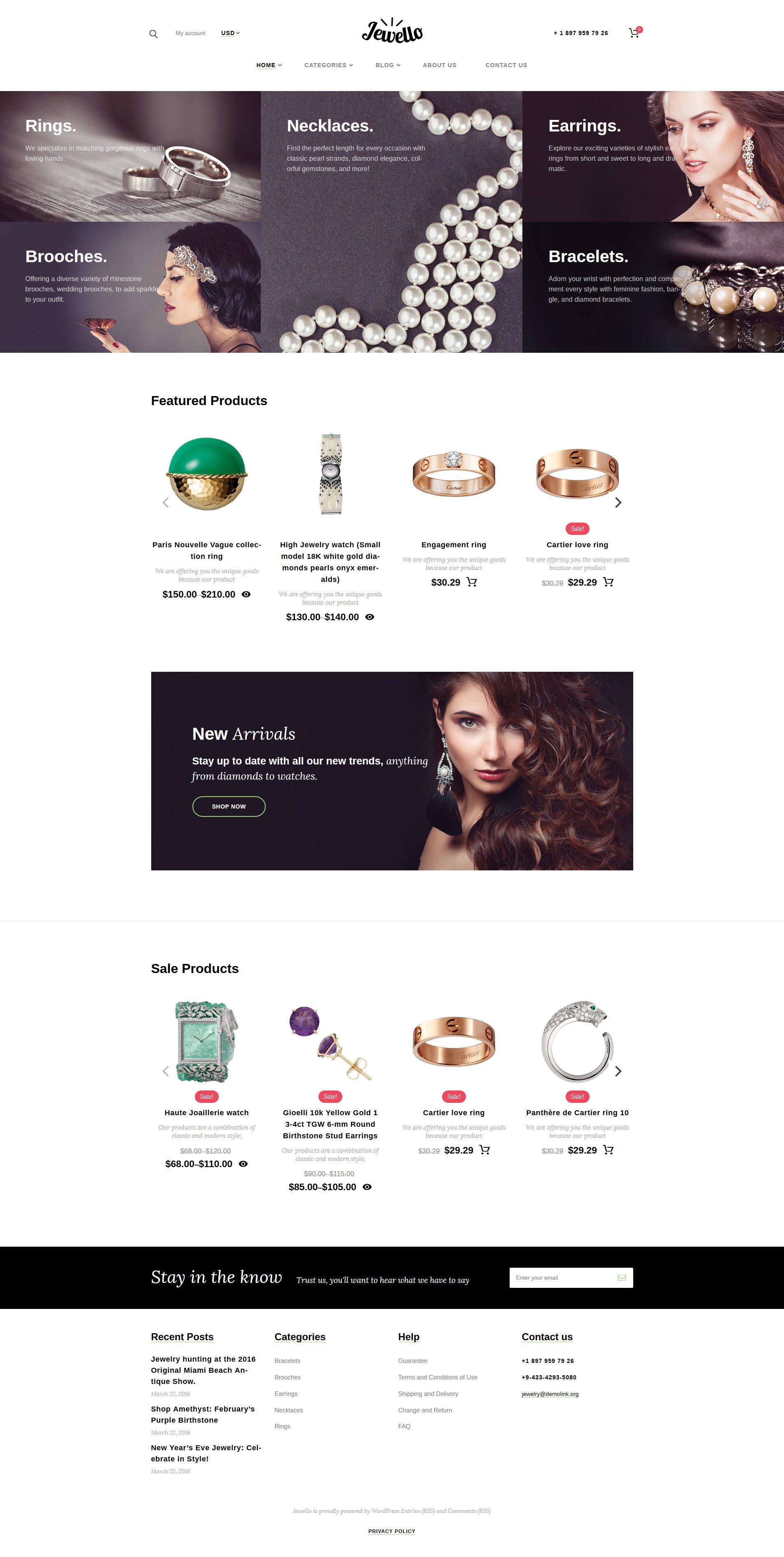 Jewellery Shop WooCommerce Theme - screenshot