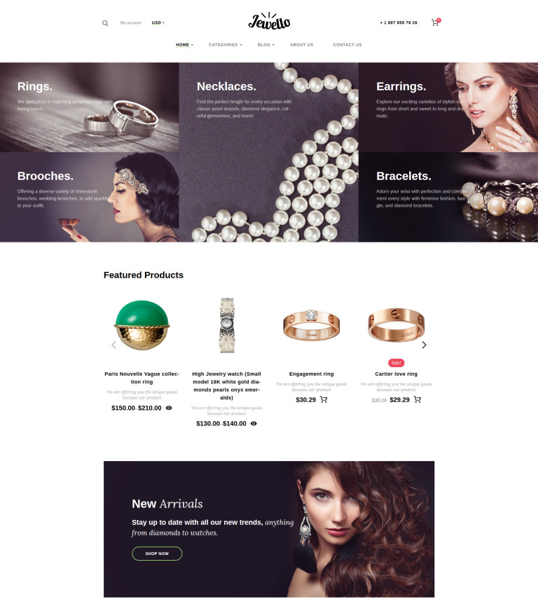 Jewellery Shop WooCommerce Theme
