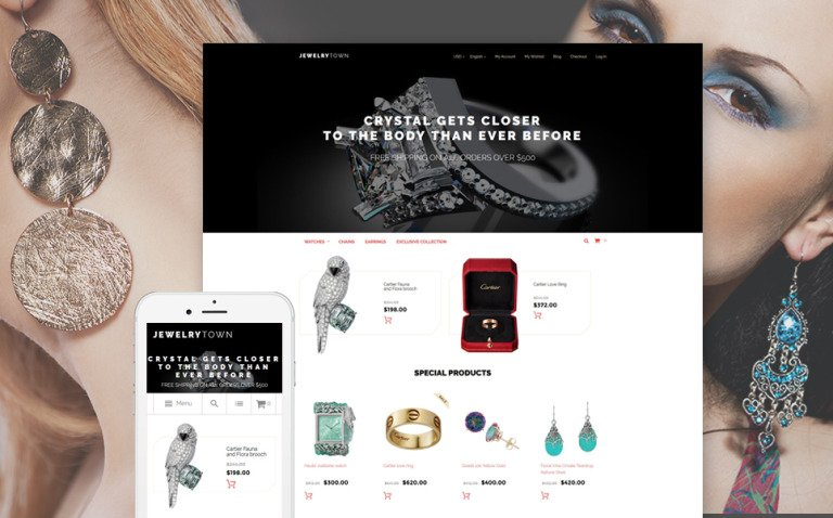 JewelryTown Magento Theme New Screenshots BIG