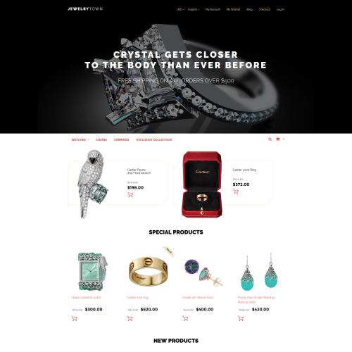 Jewelry Town - Magento Jewelry Store Template
