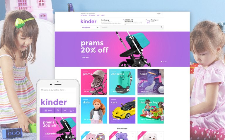 Kinder Magento Theme New Screenshots BIG