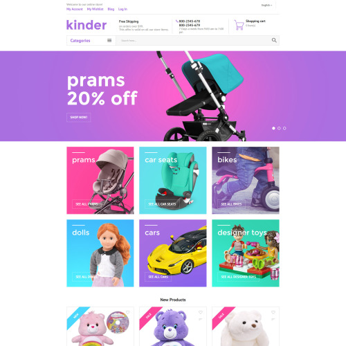 Kinder - Magento Template based on Bootstrap