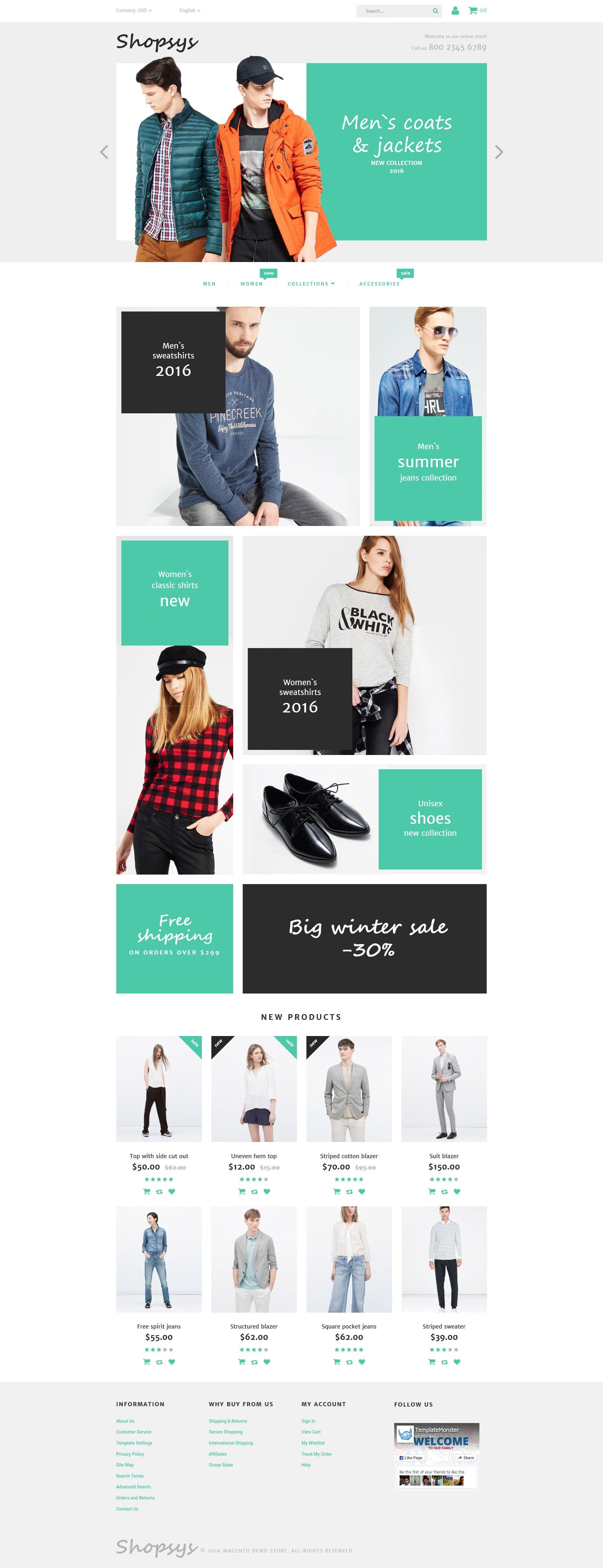 "Magento Theme namens ""Shopsys - Designerkleidung"" #58508"