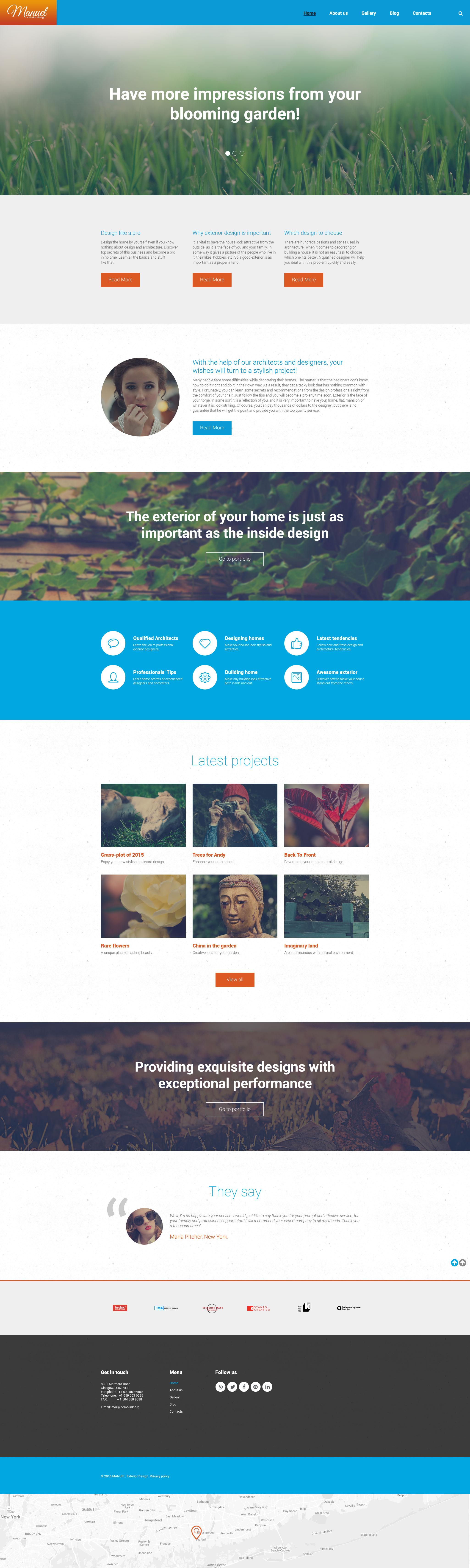 Manuel WordPress Theme - screenshot