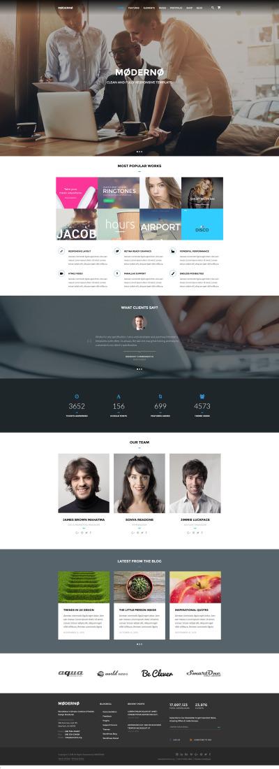 Marketing Agency Responsive Website Template #58561