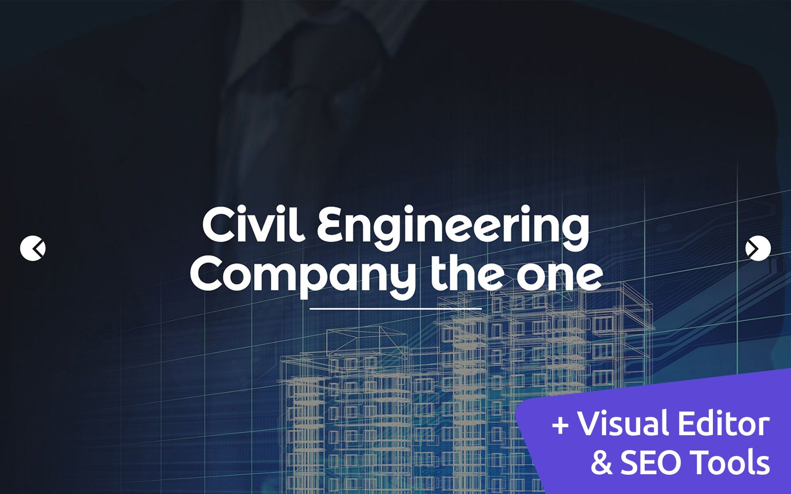 "Modello Moto CMS 3 Responsive #58541 ""Civil Engineering"""