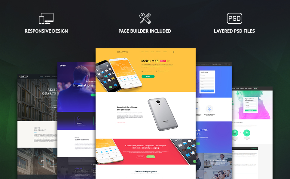 MonsterBundle Templates de Landing Page №58590