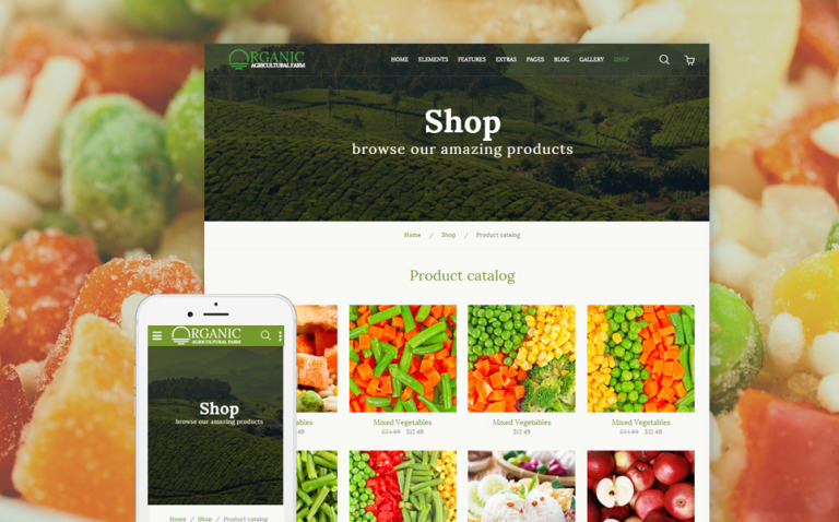 Organic - Agriculture Farm Multipurpose Website Template New Screenshots BIG