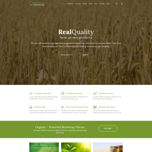 Organic Agriculture Farm - Multipurpose Website Template based on Bootstrap