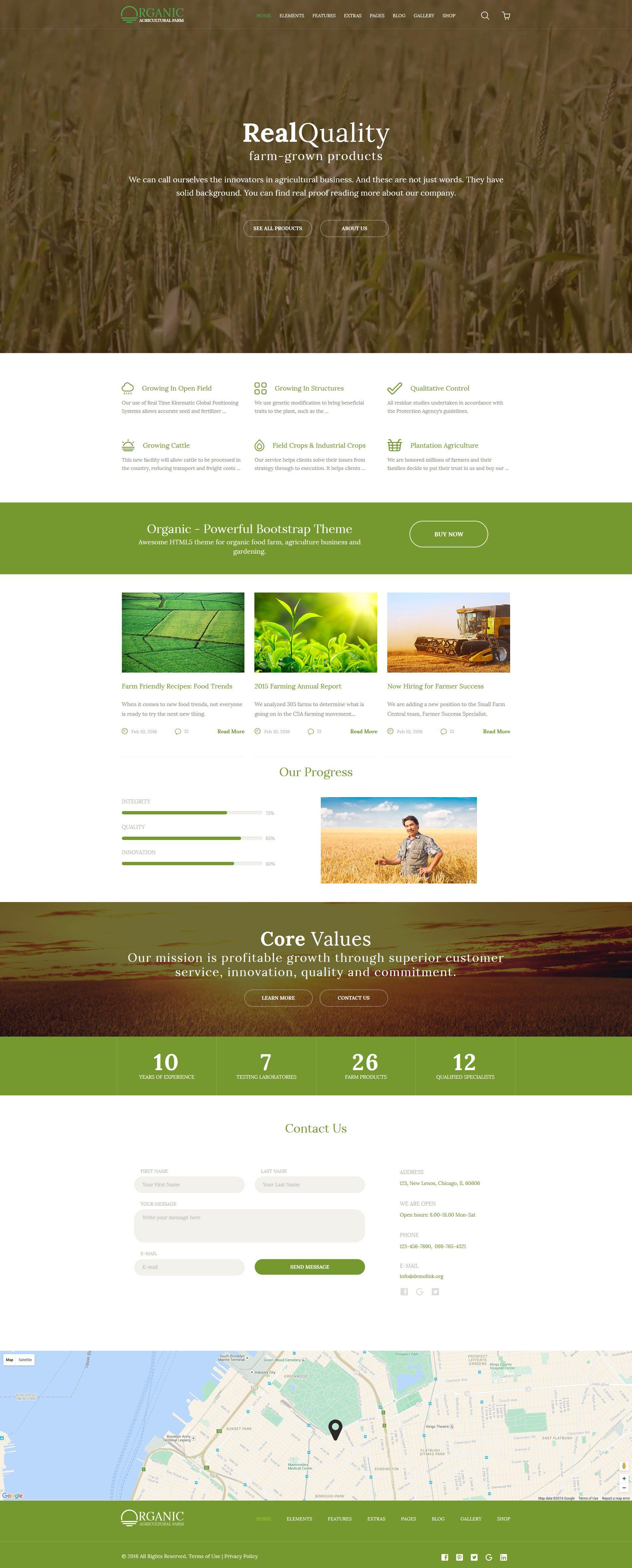 """""""Organic - Ferme d'Agriculture"""" modèle web adaptatif #58580"""
