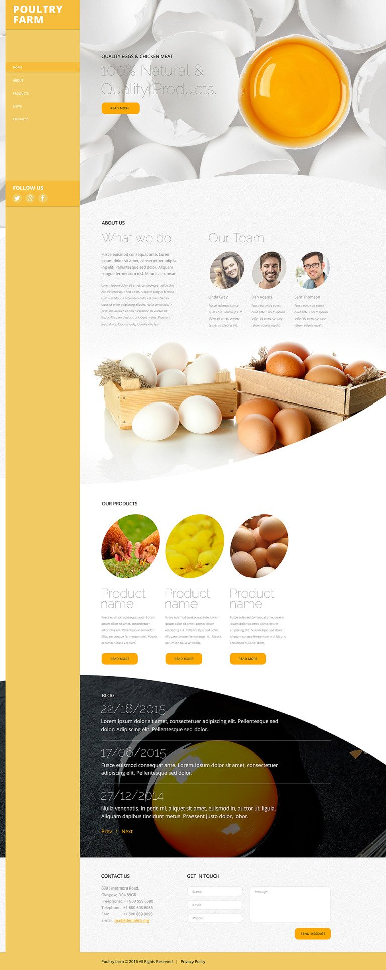 Poultry Farm Website Template New Screenshots BIG