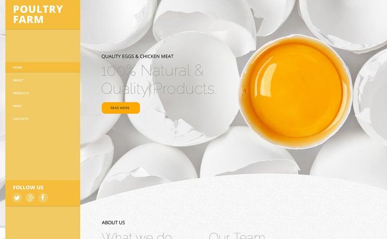 Poultry Farm Website Template