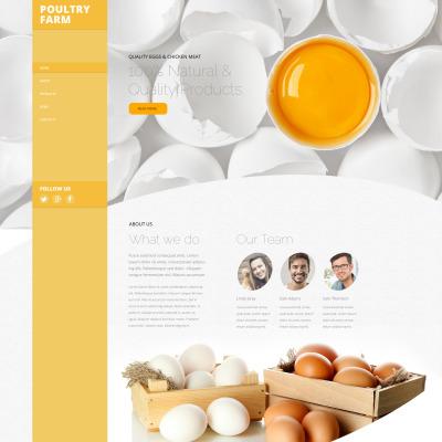 Poultry Farm Templates | TemplateMonster