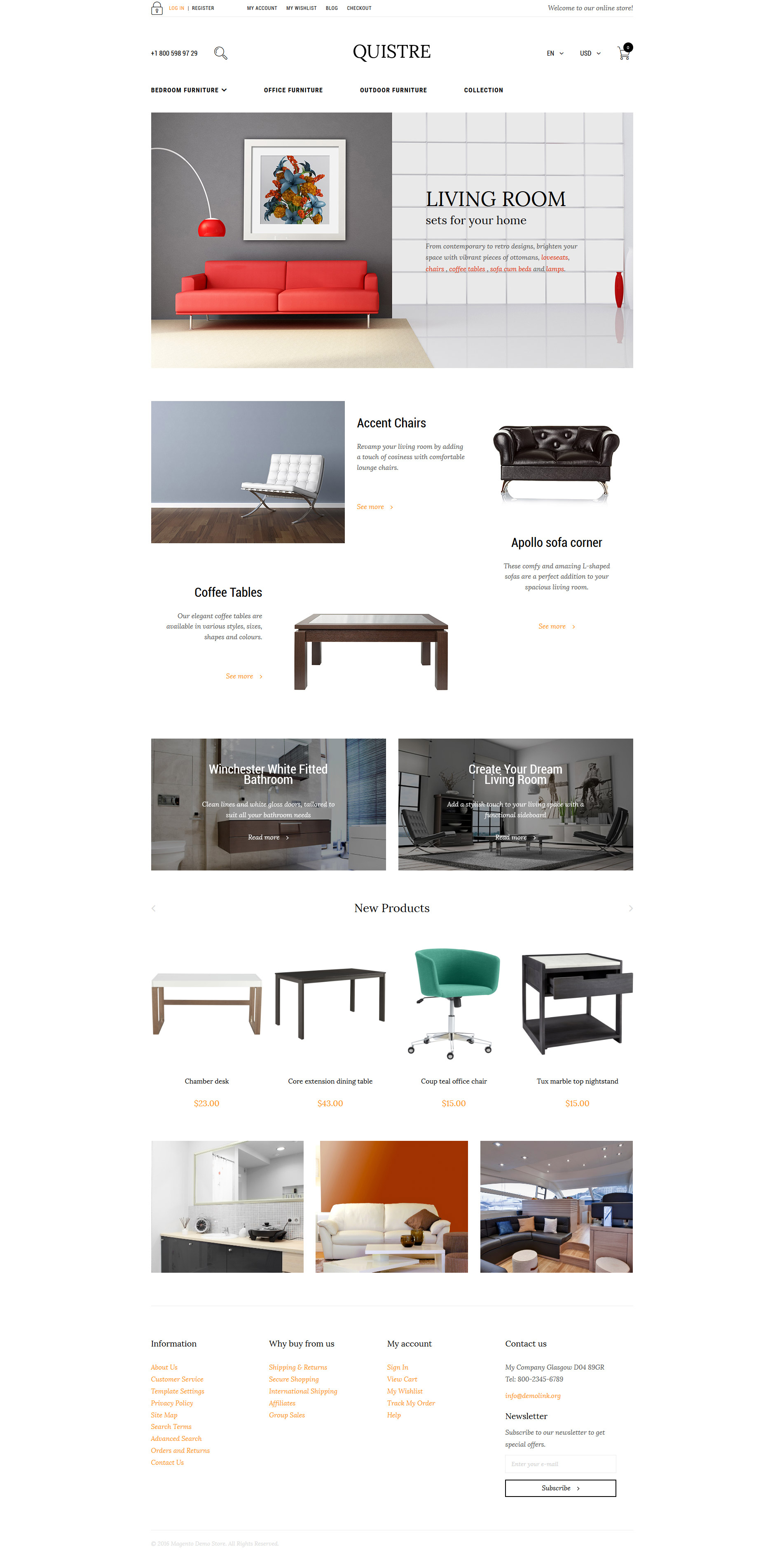 Quistre Magento Theme - screenshot