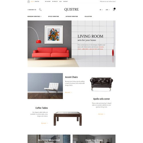 Quistre - Magento Furniture Template based on Bootstrap