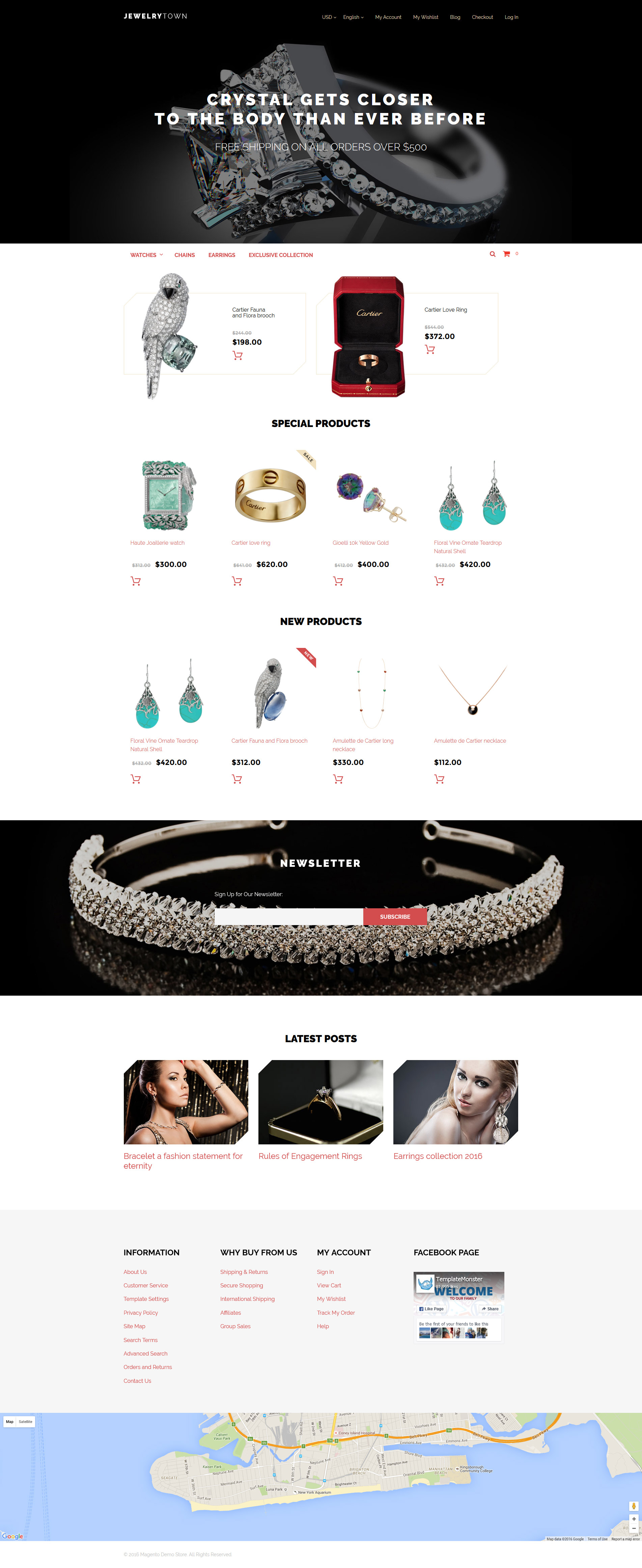 Responsive JewelryTown Magento #58504
