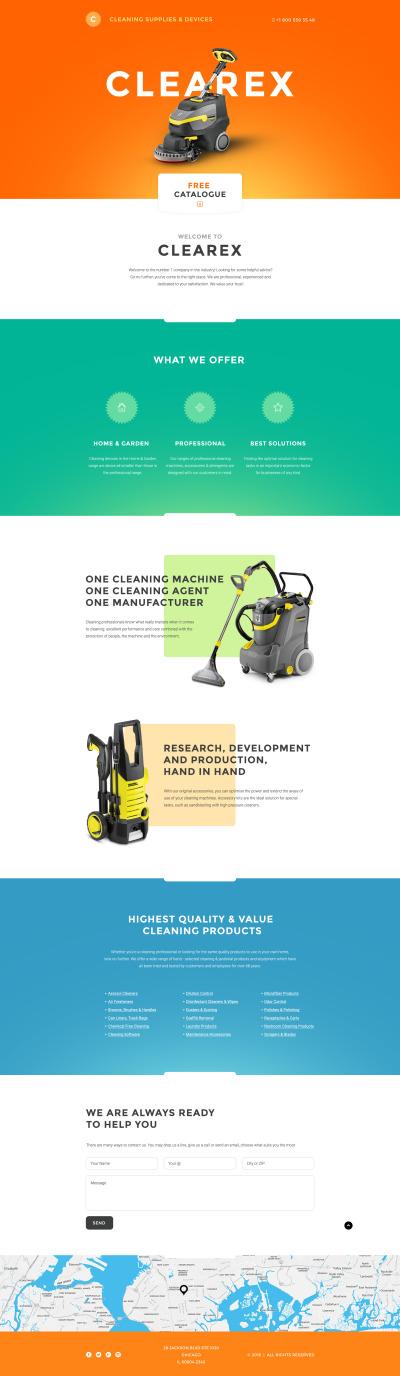 Cleaning Responsive Açılış Sayfası Şablonu