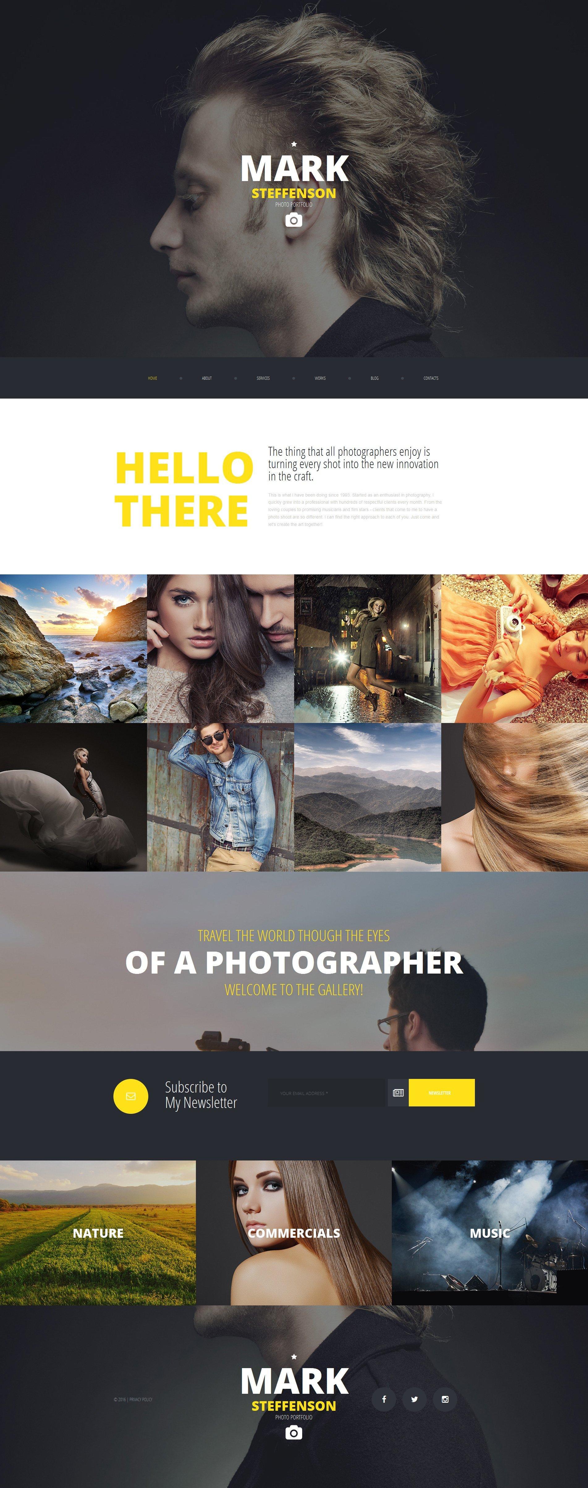Responsives Moto CMS 3 Template für Fotografen Portfolio #58553