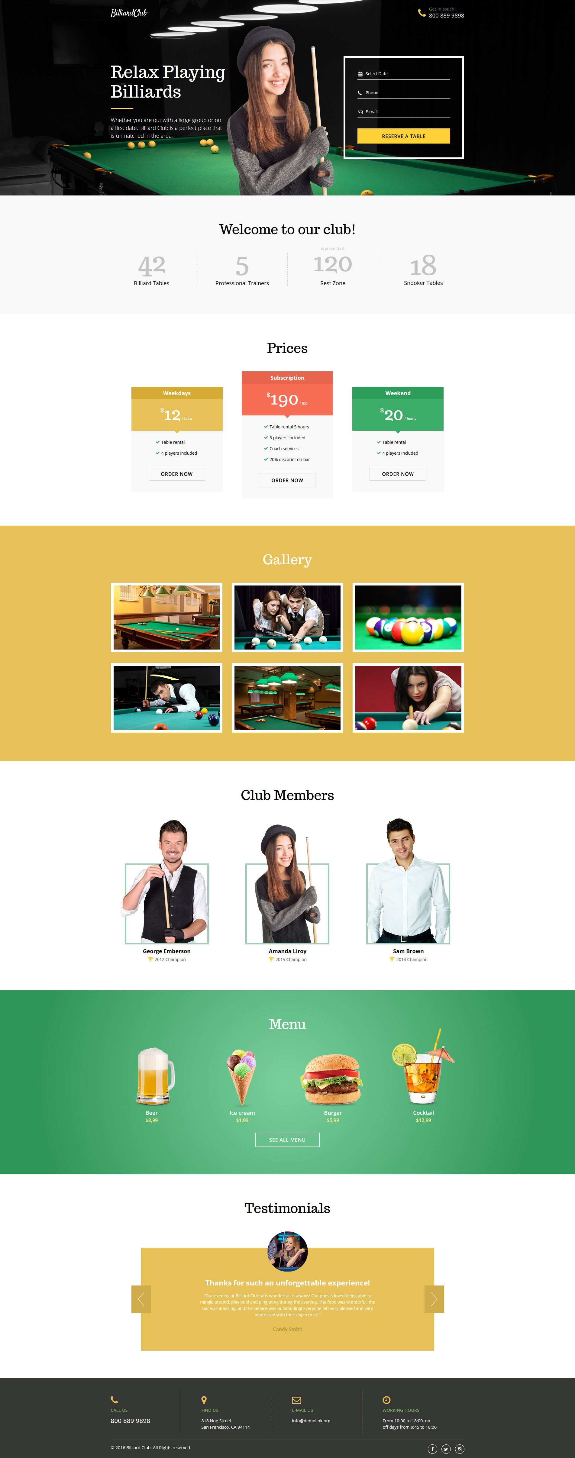 Responsivt Landing Page-mall #58503