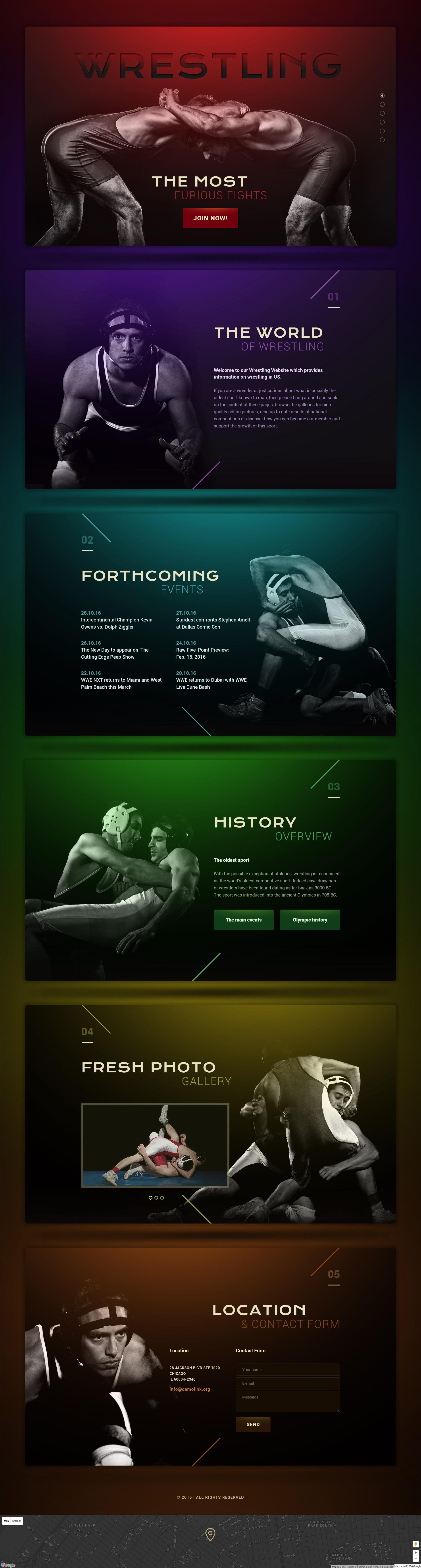 Responsywny szablon Landing Page #58521 na temat: wrestling - zrzut ekranu