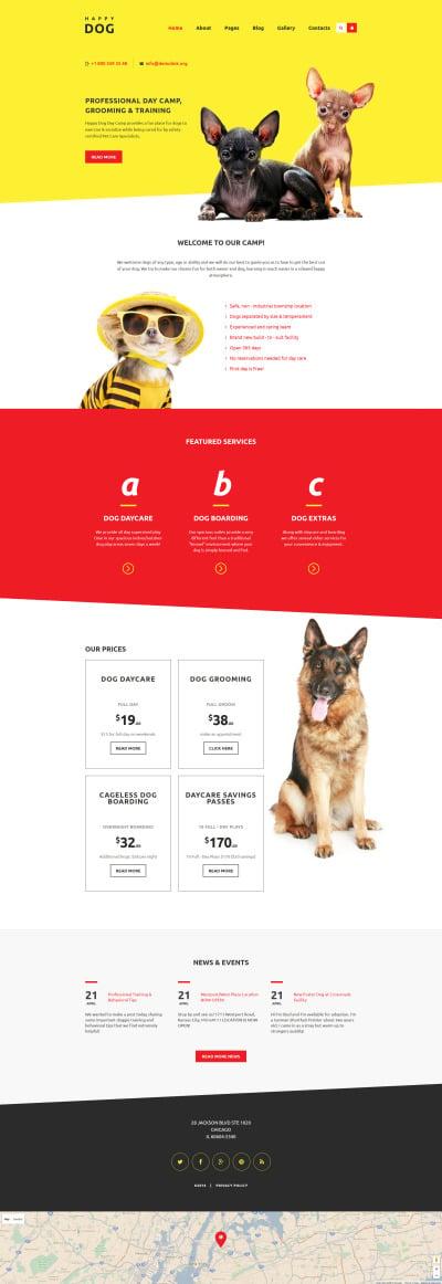 Dog Responsive Joomla šablona