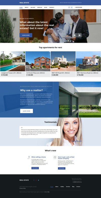 Real Estate Agency Responsive Moto CMS 3 šablona