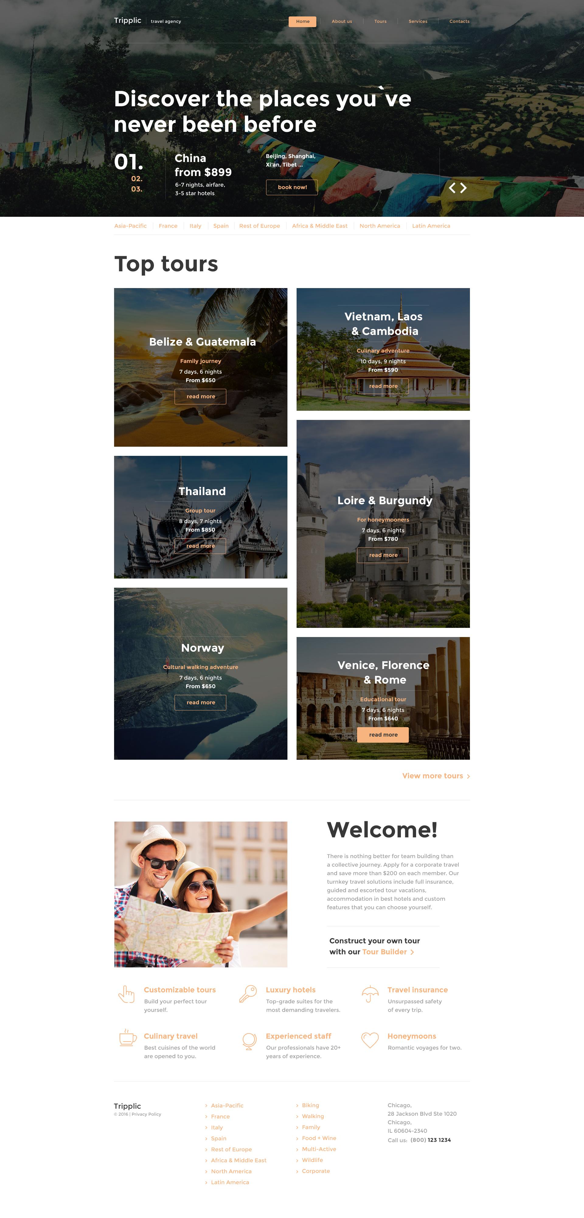 """Responzivní Šablona webových stránek """"Tripplic"""" #58502"""