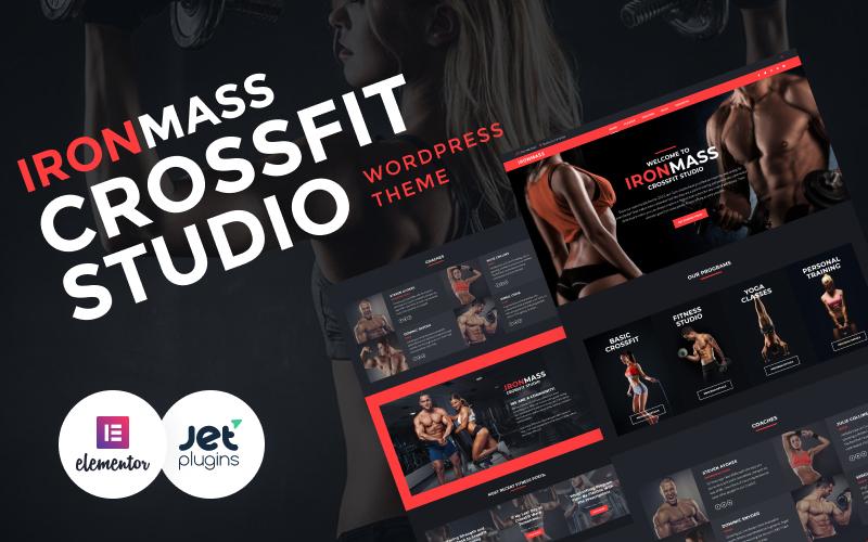Reszponzív IronMass - Fitnessz és testépítés WordPress sablon 58536