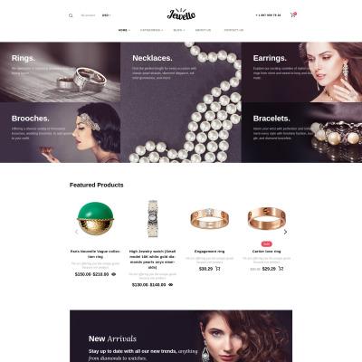 Jewelry Responsive WooCommerce Sablon