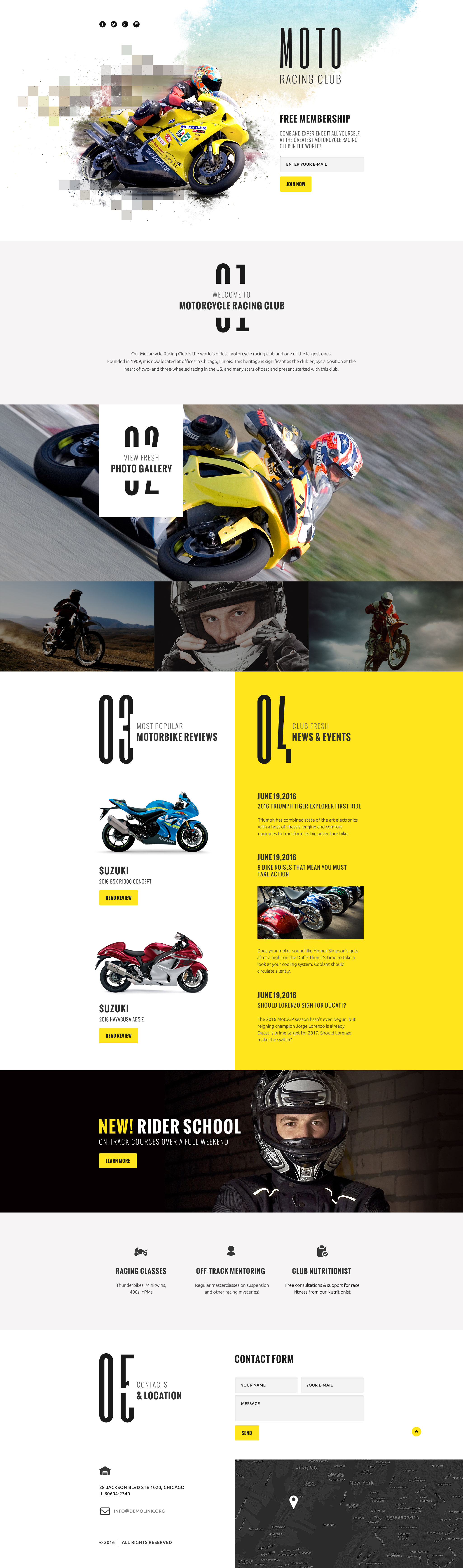 Reszponzív Motorsportok Nyítóoldal sablon 58525